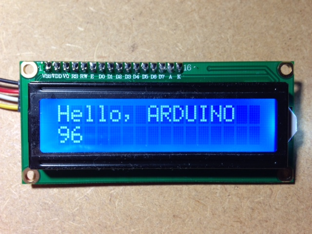 Arduino/rPi I2C LCD Display – White Letters on Blue Background