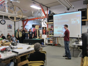 Bob presenting
