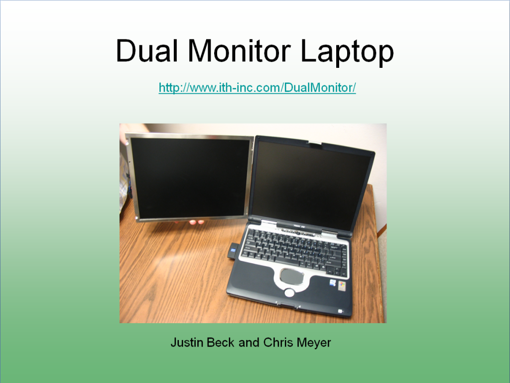 Schoof Dual Monitor Laptop
