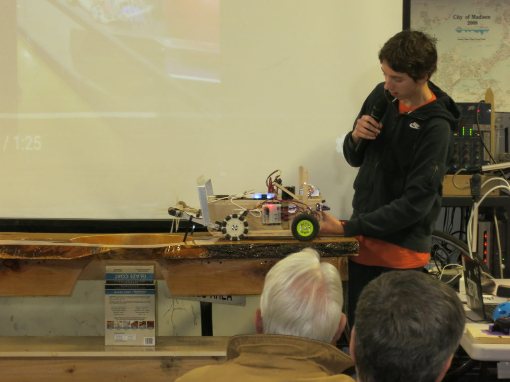 Sector67 Madison Wi Hackerspace Dome Light Wiring Diagram Vw Bug Here Is Liams Robot In Action As Liam Describes How It Shoots Balls Up The Pictured Ramp And Down Side